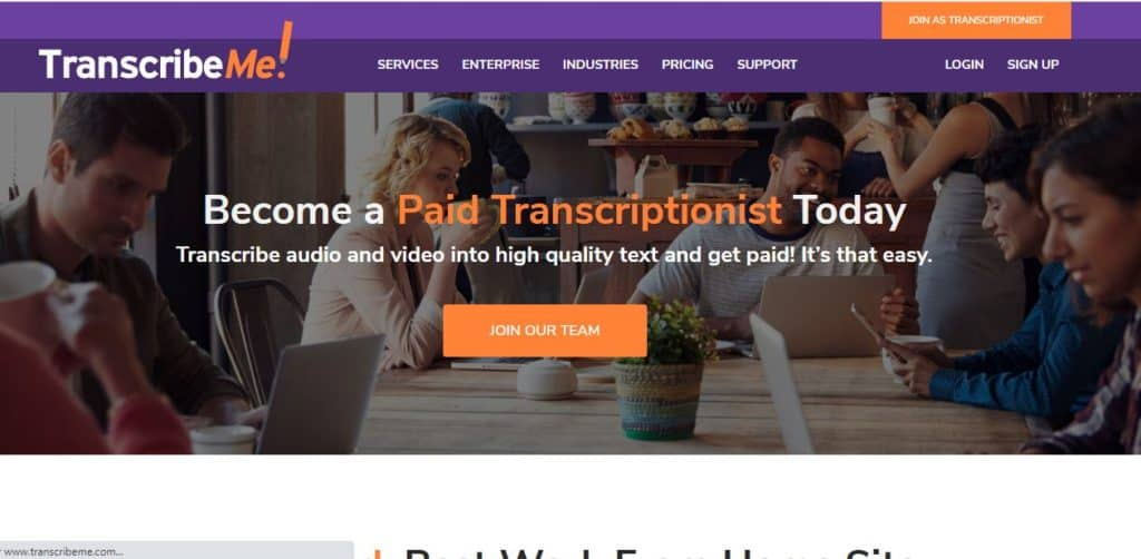 transcription jobs from home at transcribeme